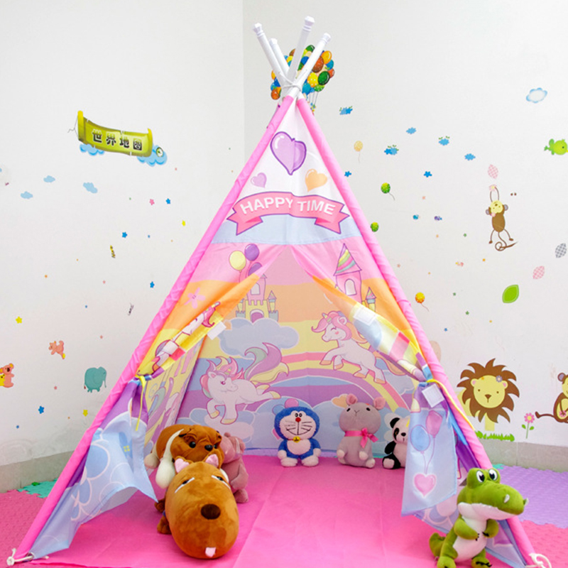 Nouveauté jouet tente intérieur extérieur étanche enfants jouet maison tente 120X120X142 cm enfants jouer tentes Oxford tissu PVC matériel