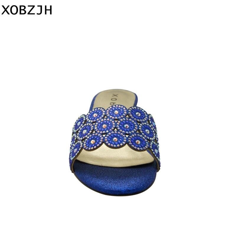 41dbb98f43fb75 Ouvert Bleu Parti Dames Bout 2019 Chaussures Luxe Femmes D'été À Grande  Chaussons Pour Xobzjh Sandales Mariage Strass Taille ...
