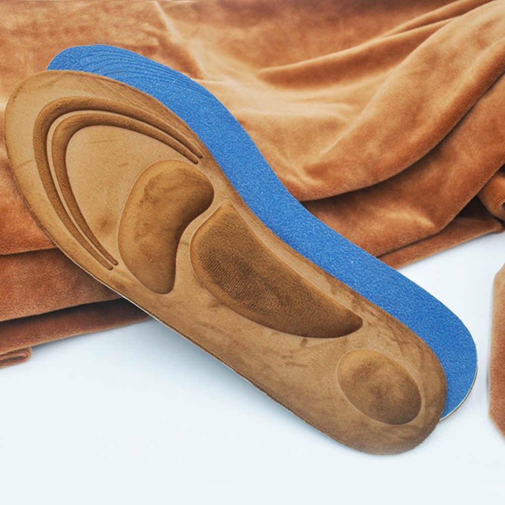 Plantilla ortopédica de espuma de memoria 4D plantilla soporte ortopédico con arco para zapatos de pie plano cuidado de los pies suela zapato almohadillas ortopédicas