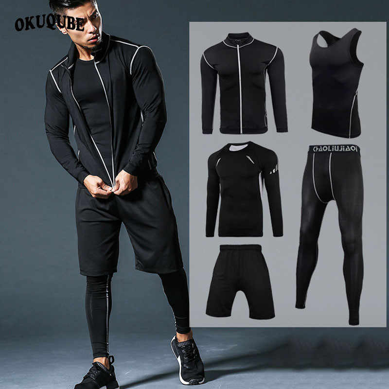 Mannen Sportkleding Compressie Sport Suits Quick Dry Running Sets Kleding Sport Joggers Training Gym Fitness Trainingspakken Running Set
