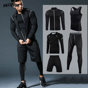 Quick Dry Running Sets Clothes Compression Sport Suits Men Sportswear