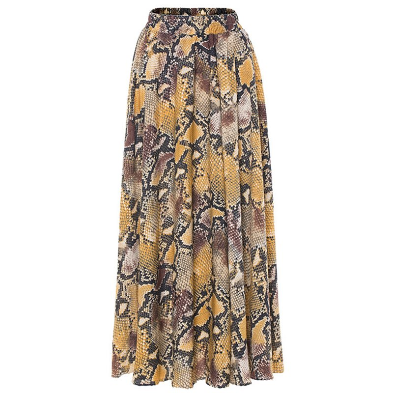 Boho Summer Women Skirt Casual Elegant Punk Sexy Club Travel Beach Plus Size Aline Serpentine Leopard Print Female Fashion Skirt