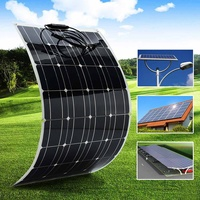 12V 100W Flexible Solar Panel Plate Solar Charger For Car Battery 12V Phone Battery Monocrystalline Cells 18V US AU UK Stock