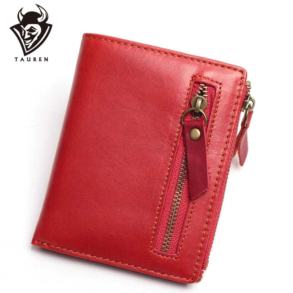 Men Wallets Genuine Leather Wallet For Credit Card Holder Zip Small Wallet Man Leather Wallet Short Slim Coin Purse Men Bags