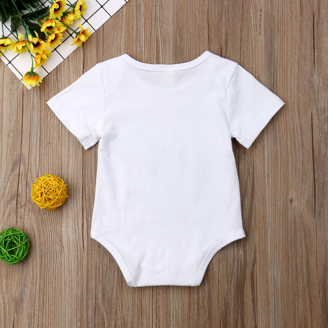 Summer Cute Newborn Toddler Baby Boys Girls Clothing Little Brother Baby Rompers Big Sister Kid T shirts Costumes 3