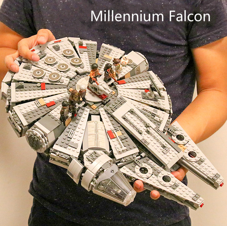 Classic Millennium Falcon Compatible Star Wars Building Blocks Bricks Toys Space Starwars Action Figures Model Toys