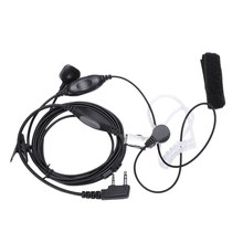 Covert Acoustic Tube Earpiece Headset Mic With Finger Ptt For Kenwood Puxing Baofeng Uv-5R Uv-5Ra 888S H777 Rt7 Walkie Talkies(China)
