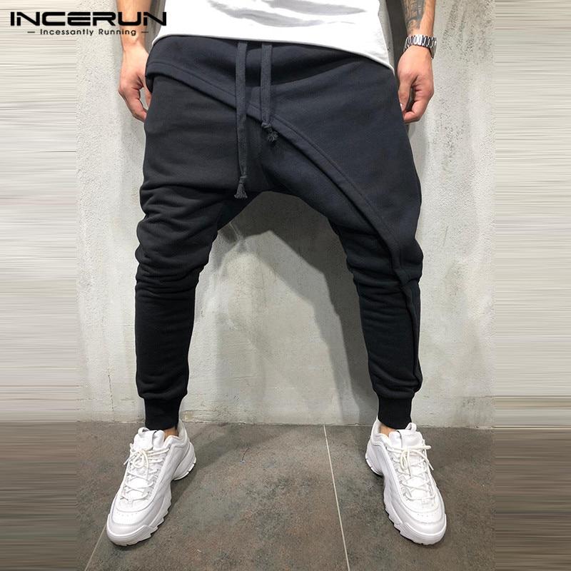 Streetwear De Pantalón Pants Hip Incerun Gota Sólido Fitness gray Moda  Pantalones 2019 Pants Entrepierna hop ... 12d11b37afa