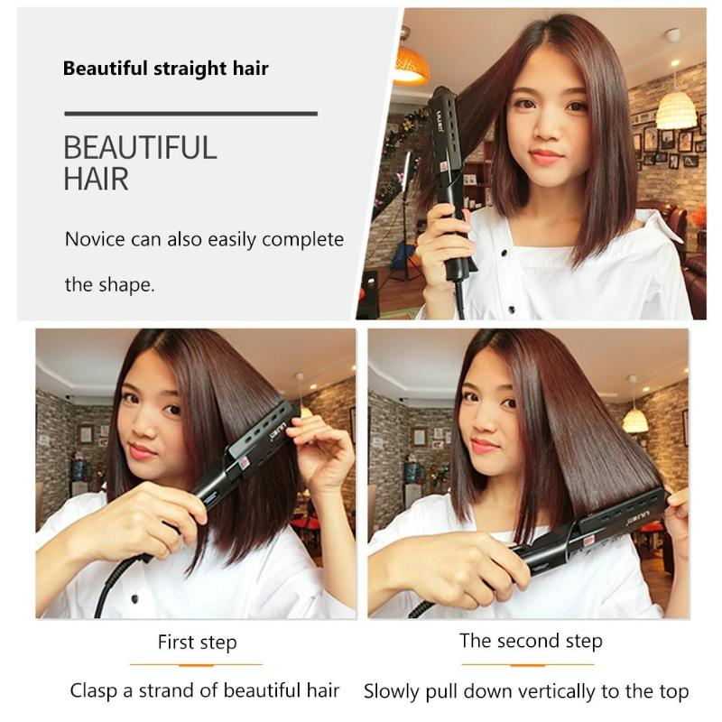 Image 3 - 220V Pro Electric Steam Hair Straightener Vapor Curler Straightening Irons-in Styling Accessories from Beauty & Health