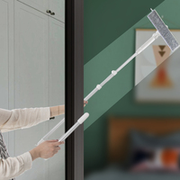 Telescopic Window Glass Cleaning Brush Cleaner High Rise Windows Dust Washing With Extension Pole Microfiber Cloth For Windows