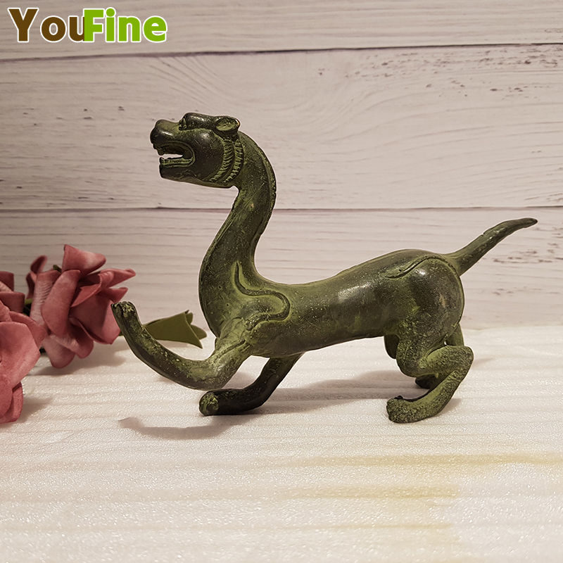 Antique bronze four-beast beast Four-pointed Green Dragon White Tiger Suzaku Xuanwu Home Decoration