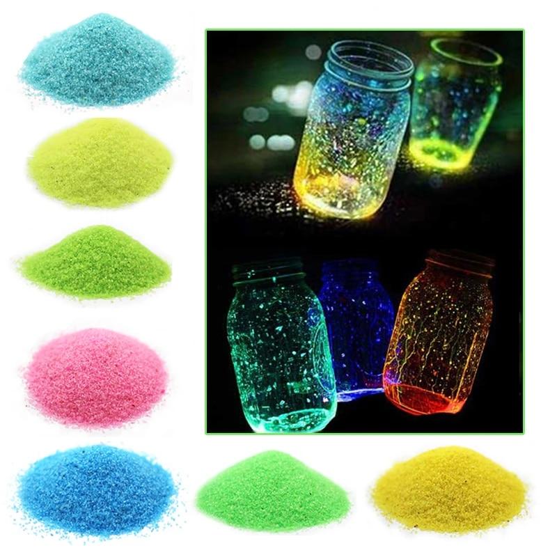 10g Glow In Dark Fluorescent Luminous Party Decor Coarse Sand Stone Fish Tank