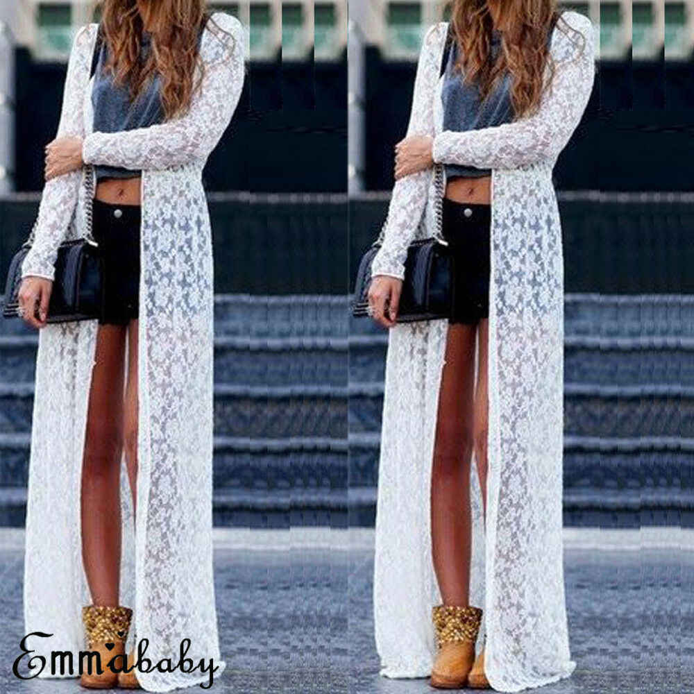 df4716b23f581 Detail Feedback Questions about Summer Women Swimsuit Bikini Cover Up Sexy  Beach Cover Ups Lace Crochet Elegant Beach Bathing Long Tops Open Stitch  Outwear ...