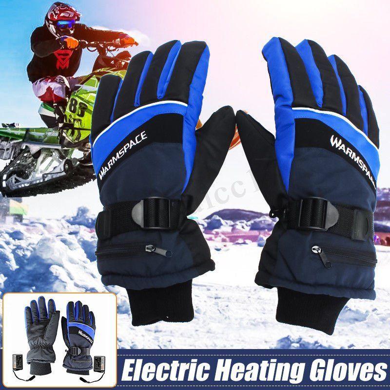 Winter Ski Glove Blue Winter Heated Gloves Usb Hand Warmer -1368