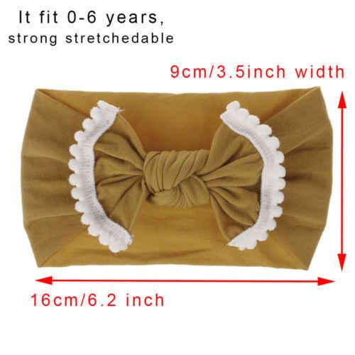 2018 Canis малышей обувь для девочек Дети ребенок большой бант повязка бантом повязка на голову Эластичный Тюрбан повязка-Узелок на голову