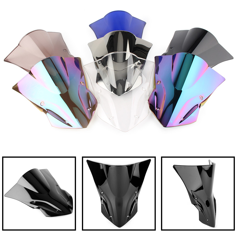 For Kawasaki Z900 Windscreen Windproof Double Bubble Windshield Z 900 2017 2018 ABS Plastic Motorcycle Accessories