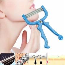 Safe Handheld Face Facial Hair Removal Threading Beauty Epilator Epi Roller Tool facial hair remover threading epilator defeatherer spring diy beauty makeup tool