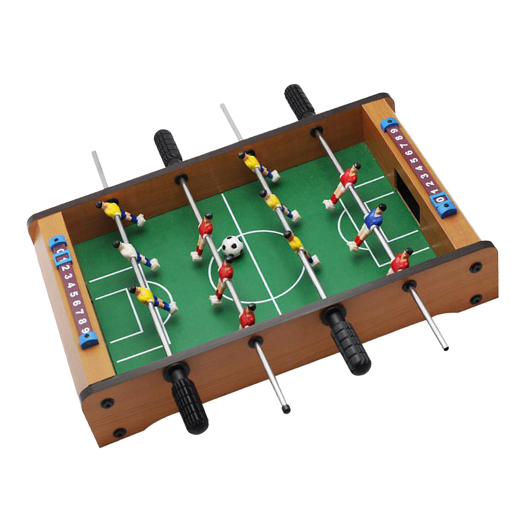Mini Tabletop Foosball Table-Portable Table Football Soccer Game Set w/ 2 Balls & Score Keeper for Adults Kids настольный футбол image