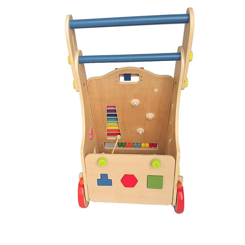 Adjustable Wooden Baby Walker Toddler Toys With Multiple Activity Toys Center US Warehouse Directly Shipping 7 10 Days Delivery