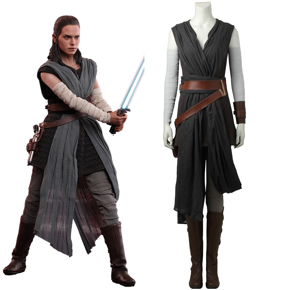 Top Grade Star Wars The Last Jedi Rey Cosplay Costume Custom Made