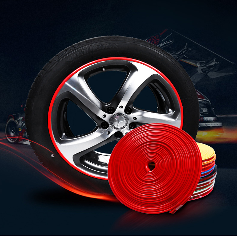 New 8M 10 Color Pro Wheel Rim Protector Roll Styling IPA Rimblades Car Tire Trim