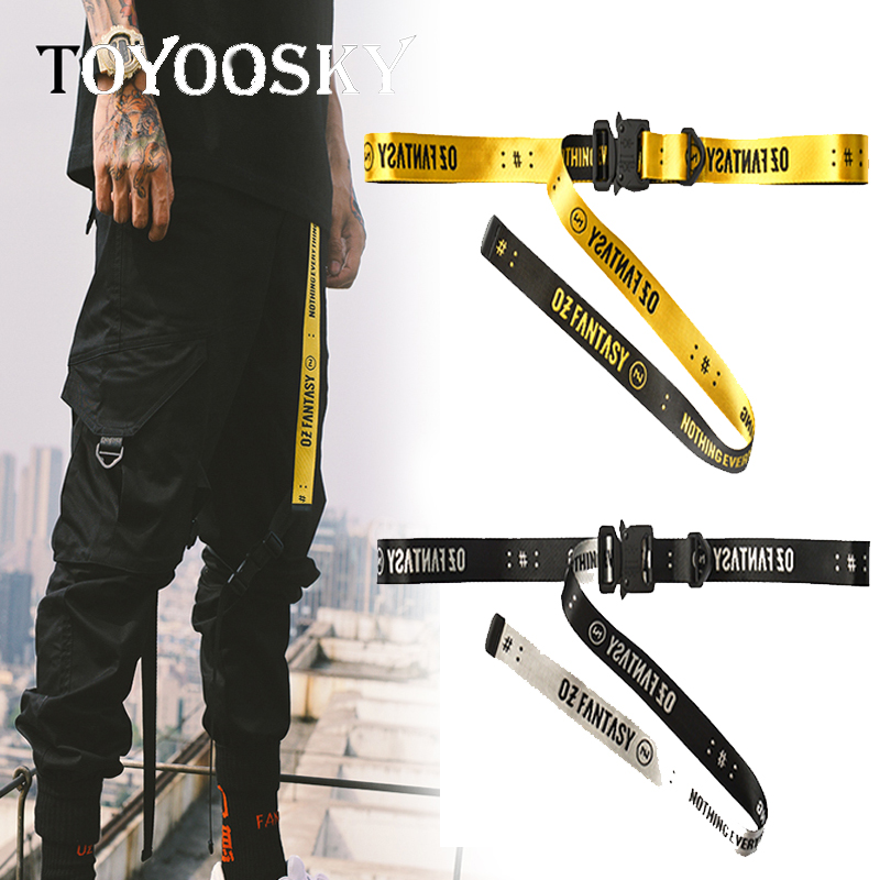 2019 New Arrival Harajuku Punk Waist   Belt   Street Fashion unisex Women   Belt   Female Male industrial-style   Belts   TOYOOSKY