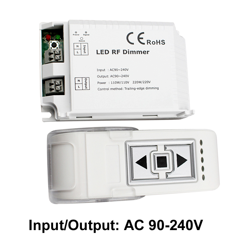 433MHZ RF <font><b>Led</b></font> <font><b>Dimmer</b></font> 220v 110v <font><b>Remote</b></font> Switch Control <font><b>Dimmer</b></font> 220 v Trailing Edge Dimming <font><b>Dimmer</b></font> <font><b>Led</b></font> 220v <font><b>Strip</b></font> Light image