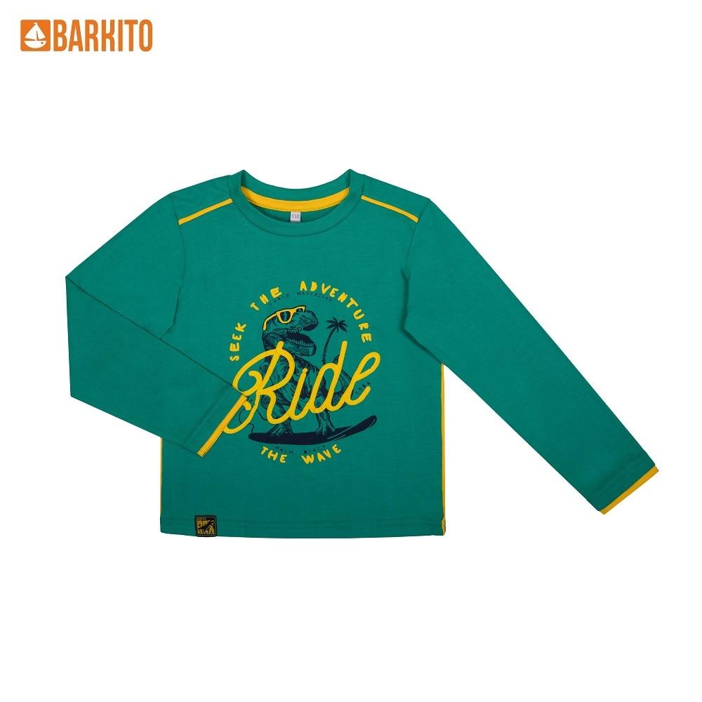 T-Shirts Barkito 341308 children clothing Cotton S19B4056J Green Boys Casual цены онлайн