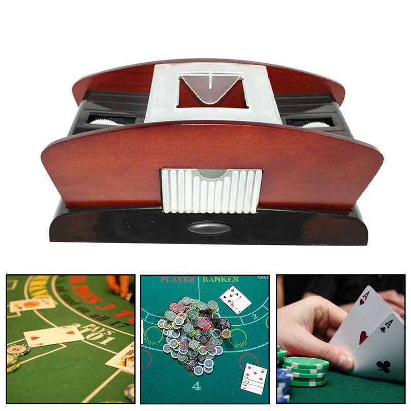 Carte à jouer automatique en plastique carte Shuffler 1-2 pont Poker trieur mélangeur Machine pour le divertissement de fête sans batterie