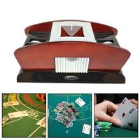 Playing Card Automatic Plastic Card Shuffler 1 2 Deck Poker Sorter Mixer Machine For Party Entertainment Without Battery