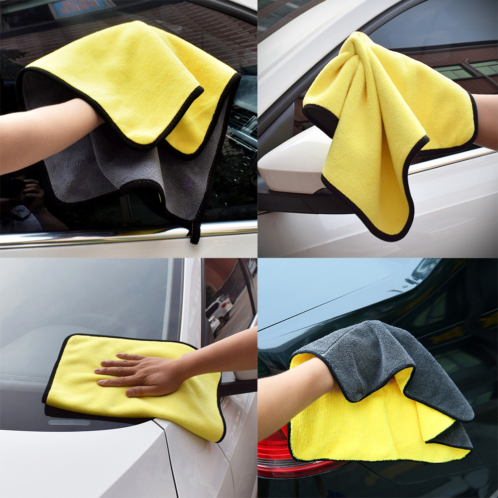 Interior Accessories Auto Care Wash Tools 800gsm 45cmx38/30cmx30cm Thick Plush Microfiber Car Cleaning Car Microfibre Wax Polishing Detailing Towels To Ensure A Like-New Appearance Indefinably Back To Search Resultsautomobiles & Motorcycles