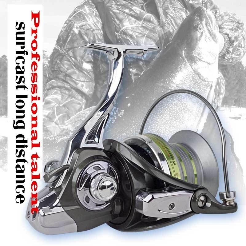 Super longue Distance tir Surfcast bobine en métal 10000 12000 roue pêche bobine filage ancre carpe poisson Pesca gabarits chargeur outil