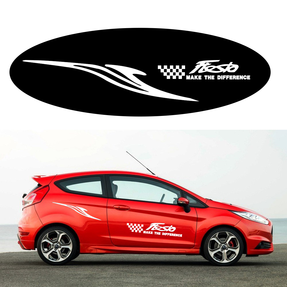 Car Side Body Decal Sticker For Ford Fiesta Pickup Truck Decals DIY Car Decoration Name Stickers 180cm Car-styling Accessories