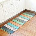 Красочный деревянный коврик с рисунком доски  нескользящий длинный коврик для кухни  напольный коврик  коврик для прихожей