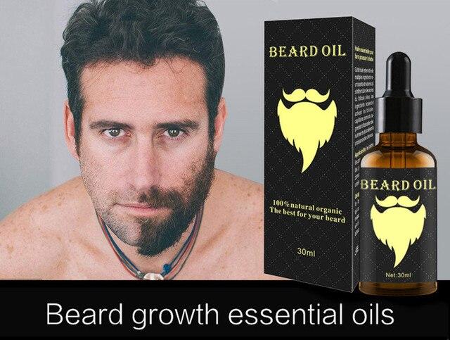 100% Natural 30ML Accelerate Facial Hair Grow Beard Essential Oil Hair and Beard Growth Oil Men Beard Grooming Products TSLM2 1