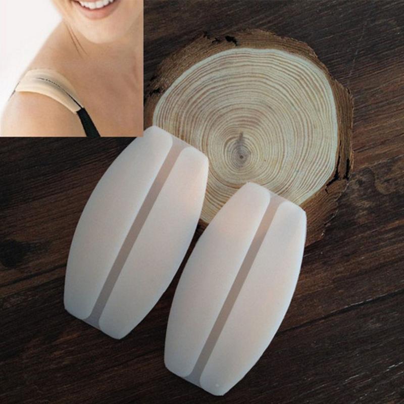 Silicone Shoulder Pad Transparent Invisible Shoulder Strap Decompression Anti-Skid Underwear Bra Pad For Women