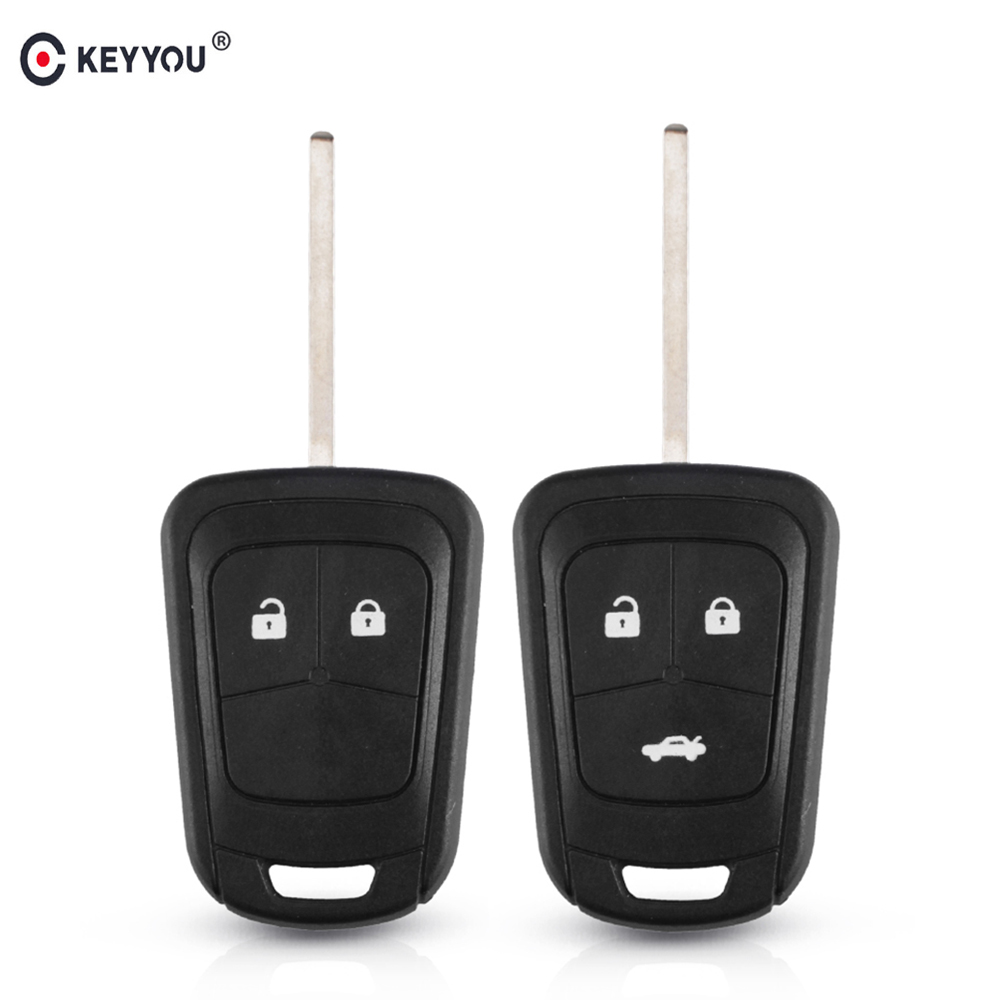 KEYYOU Replacement HU100 Blade 2/3 Button Auto Car Remote Key Shell Fob Case For Chevrolet AVEO Cruze For Opel Malibu Sonic Key(China)