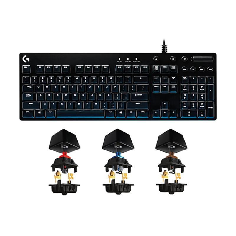 Logitech G610 Orion механические Проводная клавиатура с USB RGB подсветкой красный/синий переключатель профессиональная игровая клавиатура для насто