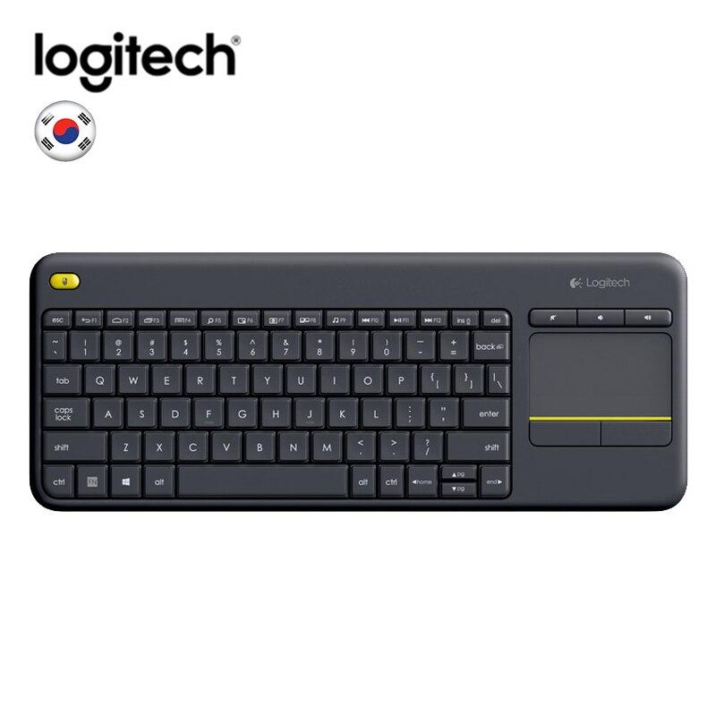 Logitech K400 clavier tactile sans fil Gaming PC portable Gamer ergonomie originale pavé tactile intégré ordinateur TV clavier sans fil