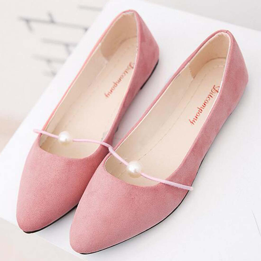pink Shoes Women Flats Candy Color Woman Loafers Spring Autumn Flat Shoes  Women Zapatos Mujer Summer Shoes with pearl| | - AliExpress