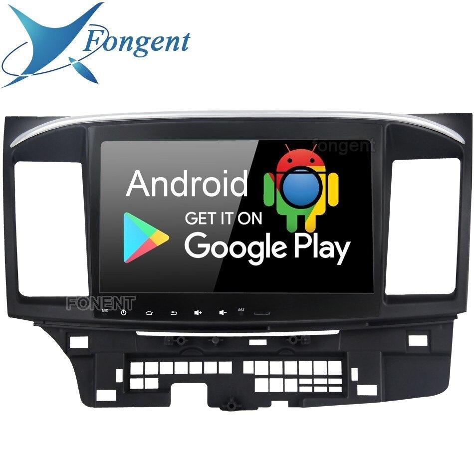 Android 9.0 Unidade de Cabeça Para Mitsubishi Lancer Evo Ex Galant 2 Rádio Do Carro Din Gps Multimídia Sistema de Navegação Dsp Ips rds PX6 IPS