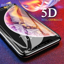 KISSCASE 5D Screen Protector For iPhone 6 7 Plus X XS Max Full Coverage Tempered Glass Xr 6s Film