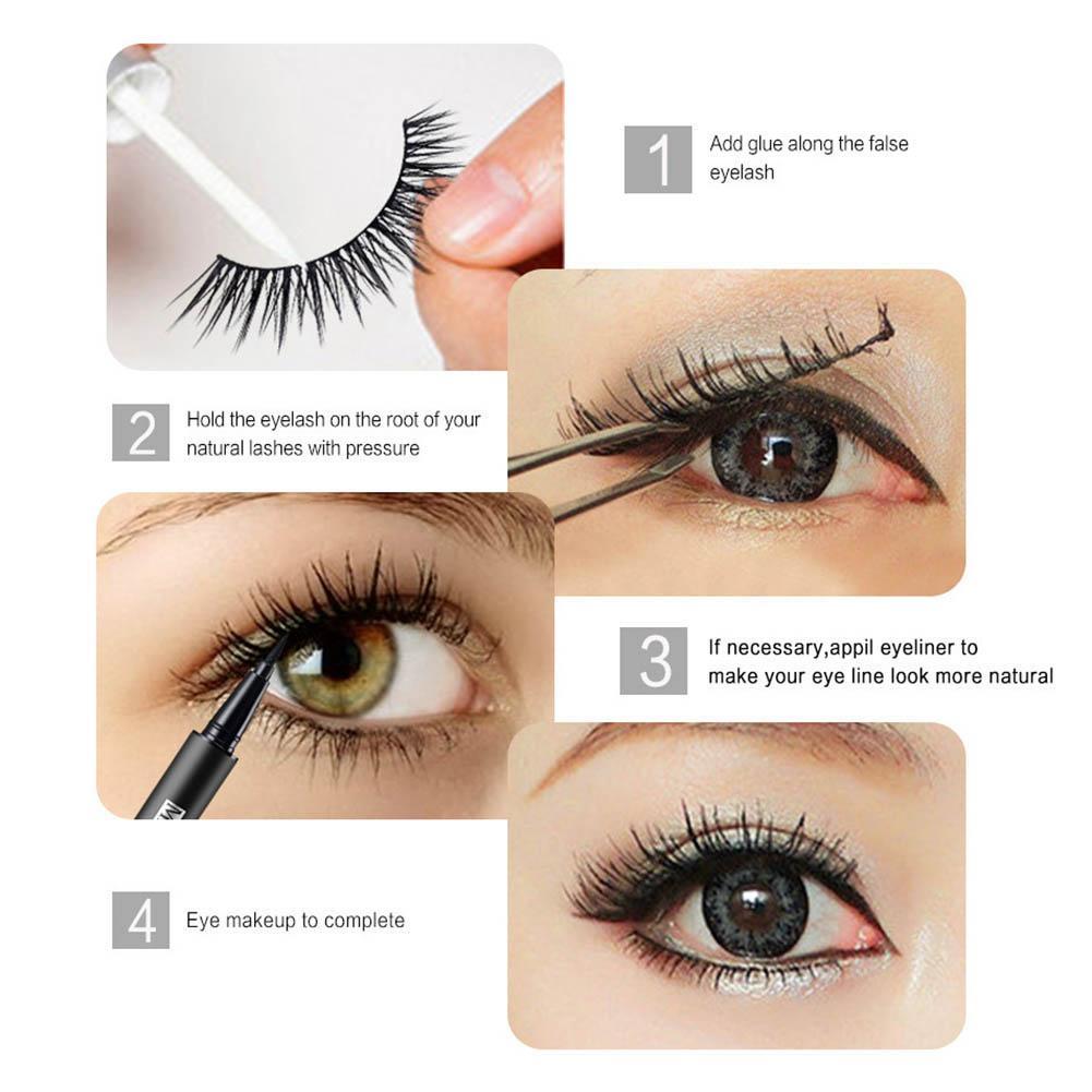 50 Pairs 5 style 3D Manual False Eyelashes Set with Tweezer Makeup Tools Each Style 10 Pairs Eyelashes in False Eyelashes from Beauty Health
