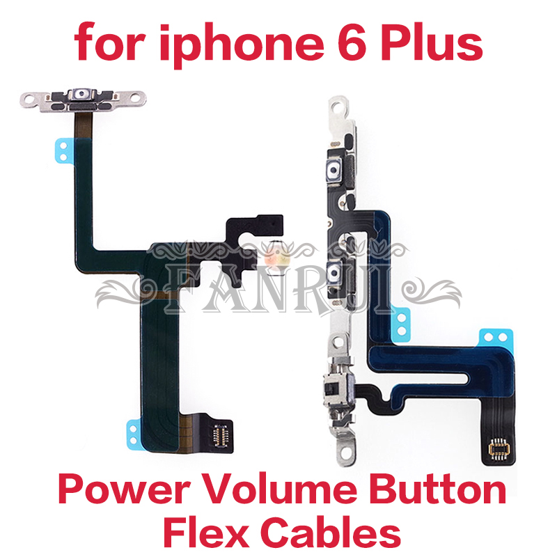 Original Power Flex With Metal Holder For IPhone 6 Plus Mute Switch Button Volume Flex Cable Mobile Phone Accessories & Parts(China)