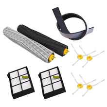 New Hot 9Pcs/lot Replacement Kit irobot roomba parts brush dust hepa filter Crash bar for roomba 800 870 880 980 vacuum cleane 5x side brushes 5x filters replacement for irobot roomba 800 900 860 880 980 960 870 robotic cleaner parts accessories