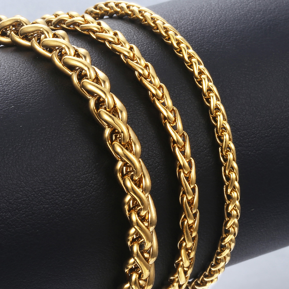 Unique Men's Stainless Steel Gold Bracelet