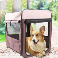Big Size Pet Cage Kennel Multi Function Collapsible Breathable Wear Puppy Cats Dog Bed Car Transport Cage Pets Outdoor Carriers