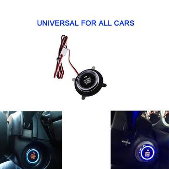 DC12V Car Engine Push Start Stop Button Ignition Starter Engine Starter Switch Working With Keyless Entry & Push Start System