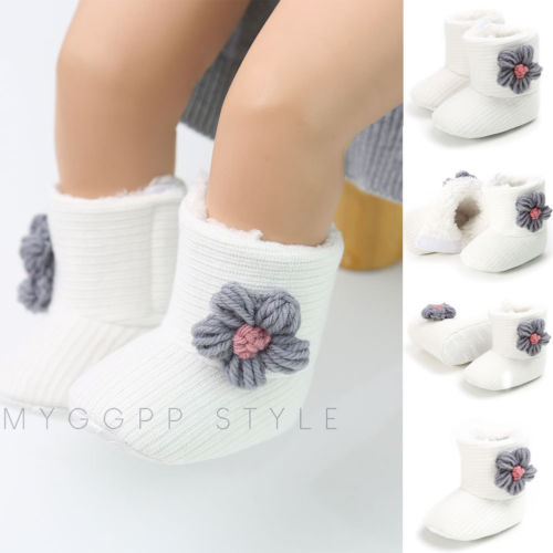 cadc5d862367c 2019 New Infant Toddler Baby Girls Boots Kids Floral Winter Warm Thick Snow  Boots Fur Shoes Newborn Baby Girl Cotton Shoes-in Boots from Mother & Kids  on ...