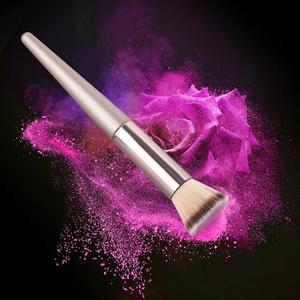 Image 3 - 1 pincel profesional para maquillaje, brocha plana, brocha para colorete, herramientas de belleza fáciles de usar y portátiles